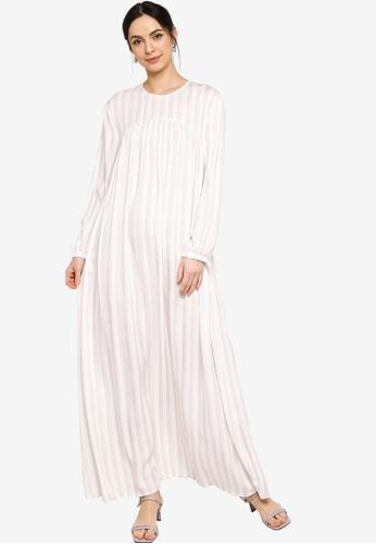 ZALIA BASICS white Gather Maxi Dress 24096AAE9E6C60GS_1