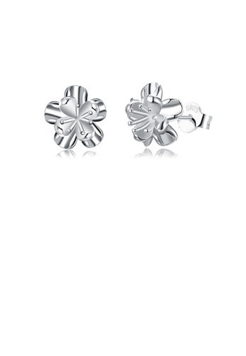 Glamorousky silver 925 Sterling Silver Romantic Elegant Exquisite Daisies Flower Earrings and Ear Studs 64BE2AC4AFE05CGS_1