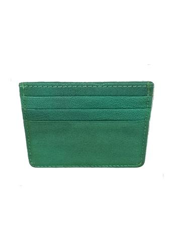 Oxhide green Card Holder Green Grain Leather 193A5AC6A3E066GS_1