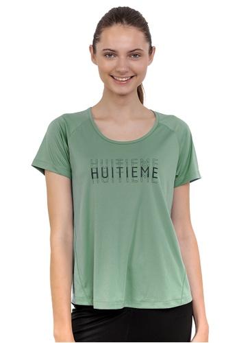 Huitieme green HUITIÈME DRI FIT GREEN TEE. BDF70AABC5EA41GS_1