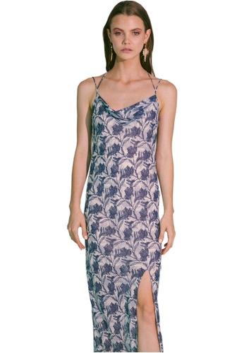 Akosée blue Ladder of Love Cowl Slip Dress B1A96AADCB4417GS_1