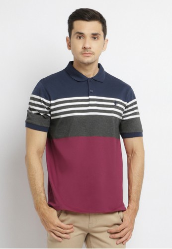 Osella red Osella Baju Pria Polo Shirt Stripe Navy Red 5AF9CAA65A63D7GS_1