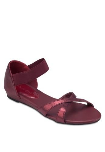 交叉繞踝包跟涼鞋,esprit au 女鞋, 涼鞋