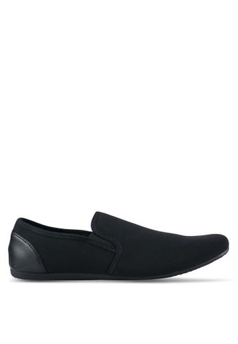 UniqTee black Classic Textile Loafers UN097SH0SYSBMY_1
