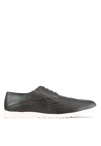 ZALORA brown Faux Leather Sporty Dress Shoe 99D44SHEBD71A9GS_1