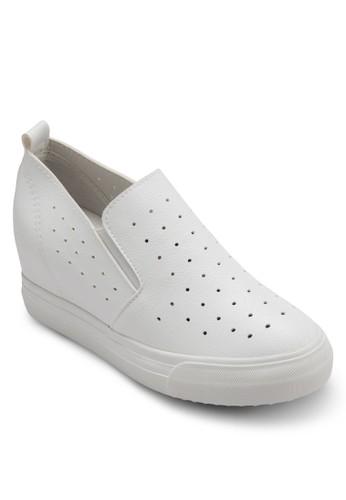 透氣孔隱藏式楔型跟懶人鞋, 女鞋esprit專櫃, 厚底楔形鞋