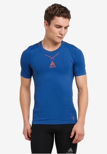 Odlo orange Crew Neck Ceramicool Seamless Short Sleeve Shirt OD608AA0S112MY_1
