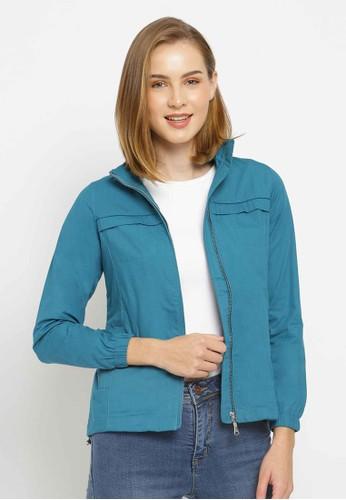 C2 Outfitters blue C2 Belvan Blue Bikers Jacket CDEAAAA0554B41GS_1