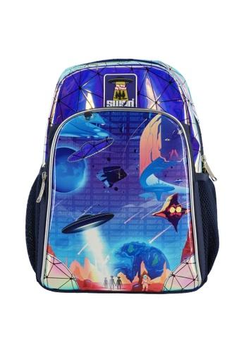 Swan blue Swan Smile Victor 2 (Space) Primary School Bag AD0F8KCA8FB6A2GS_1