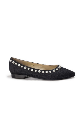 Shu Talk 黑色 LeccaLecca Audrey 珍珠高雅尖頭平底鞋 B457ASHFA59055GS_1