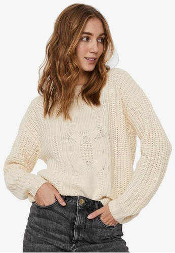 Vero Moda beige Presleyalpine Ls O-neck Sweater 14EF0AAD8302DDGS_1