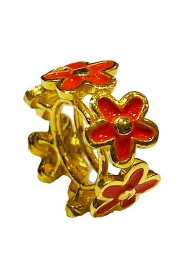 LITZ gold LITZ 916 (22K) Gold Flower Charm 花 GP0192 (0.66g+/-) B3964AC088648AGS_1