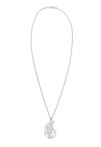 Elli Germany silver Paisley Ornament Zirconia 925 Sterling Silver Necklace EL474AC0S1YYMY_1