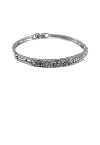 Glamorousky grey Elegant Bangle with Dark Grey Austrian Element Crystal CC759AC51E99A9GS_1
