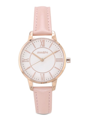 Massa Collections red Precious Pink Ladies Leather Watch 43299AC68FC020GS_1