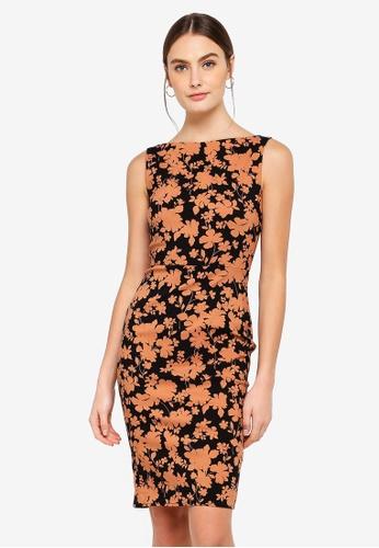 FORCAST brown Bria Pencil Dress AD369AA8473435GS_1