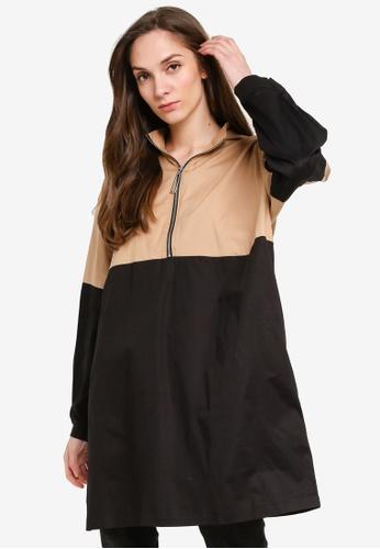 LC Waikiki black Cotton Tunic With Hood 45990AAFD49099GS_1