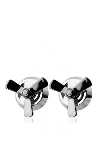 Kings Collection silver Movement Propeller Cufflinks 44C3AACD372CC0GS_1