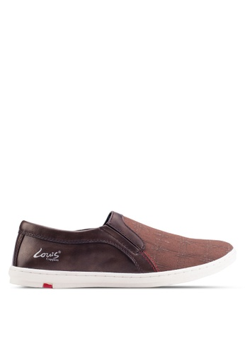 Louis Cuppers brown Basic Canvas Slip Ons LO977SH88ZJJMY_1