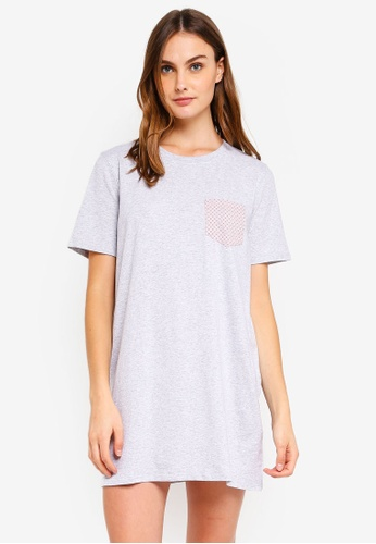 Cotton On Body grey Boxy T-Shirt Nightie D0A29AA02070A5GS_1