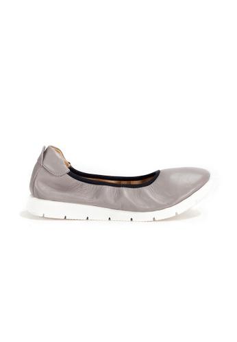 Shu Talk 灰色 DARKWOOD 超舒適芭蕾舞有跟鞋 77D4CSHD563A13GS_1