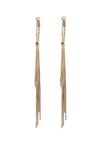 Red's Revenge gold Metal Tassel Dangle Earrings C83ABAC054C543GS_1