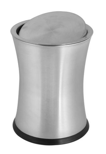 JVD JVD Lifetsyle Bathroom Swivel Top Bin, 8 litres capacity, Stainless steel 52D68HL94CAA6EGS_1