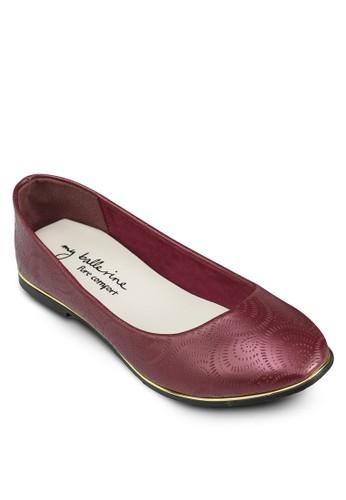 Miranda 雕花esprit台灣官網金邊平底鞋, 女鞋, 鞋