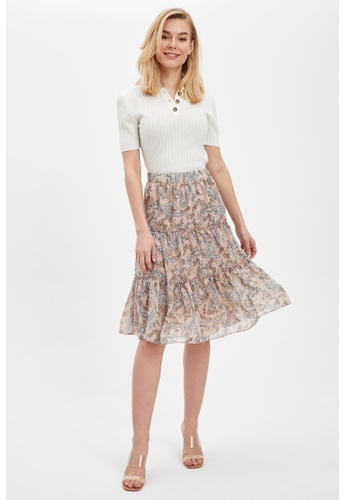 DeFacto pink Woman Woven Skirt 7B597AA1A0C99AGS_1
