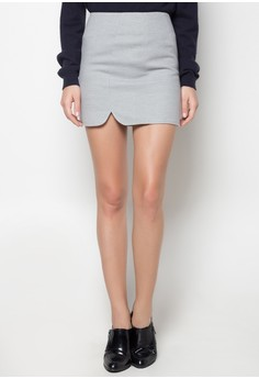 Plain Slit Skirt