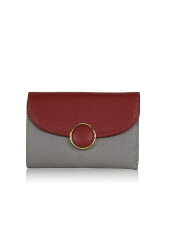 Dazz grey and red Calf Leather 2 tone Wallet - Red DA408AC0S9JQMY_1