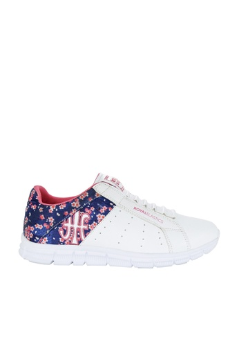 Royal Elastics white and multi Zephyr Laceless Trainers RO796SH2UYL6HK_1