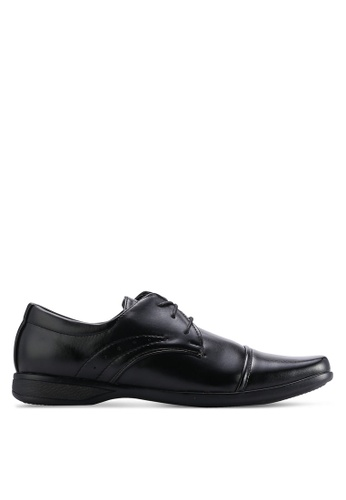 UniqTee black Cap Toe Derby With Sewing Detail UN097SH03WMQMY_1