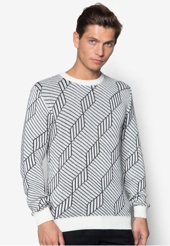 立體圖形針織長袖衫, 服zalora 衣服評價飾, 外套