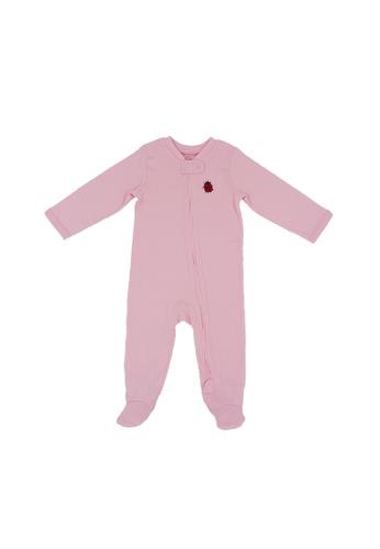 Baby Lovett pink Lady in Pink Two-Way Zipper Suit FE32BKA27D12EEGS_1