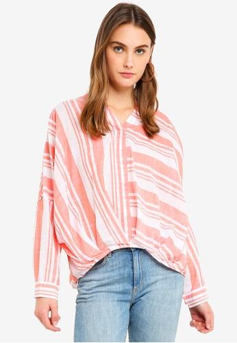 ESPRIT orange Woven Long Sleeve Blouse A9A13AA17845ECGS_1