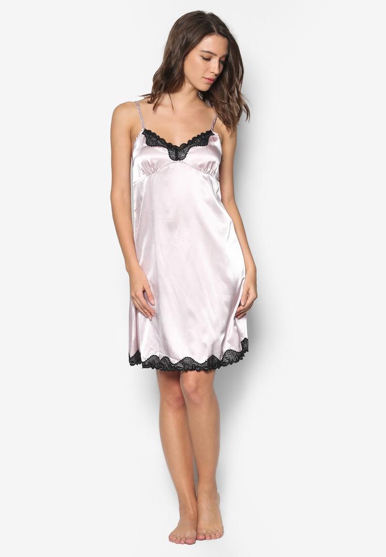 Impression Nightdress Impression Satin Satin Pink wWyYcqWXP7
