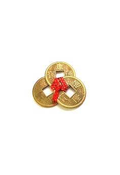 Feng Shui Wealth Catcher Three I-Ching Coins