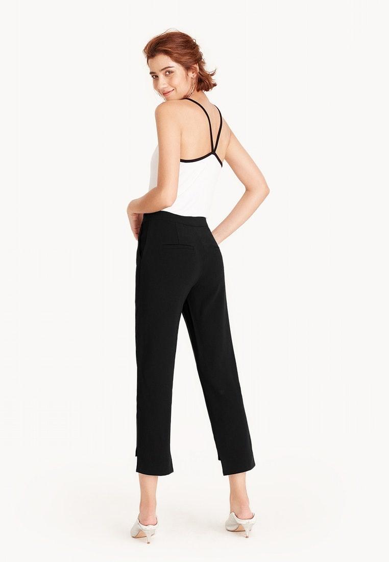 Pants Asymmetrical Pomelo Black Ankle Daniella CBPUnq4w