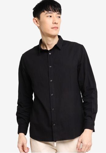 ZALORA BASICS black Regular Fit Work Shirt 07B37AA60E579DGS_1