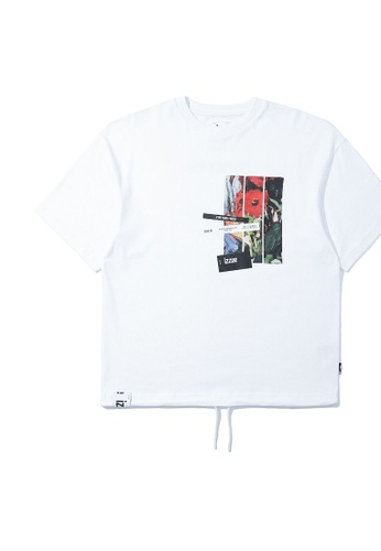 izzue white Yourself graphic tee D46DFAABBD64E1GS_1