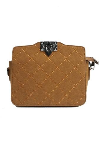 Lara brown Women's Shoulder Bag F2987AC7E53054GS_1
