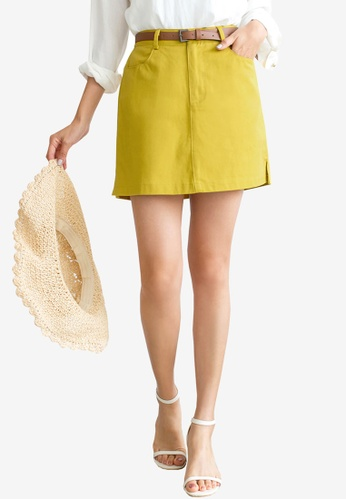 Tokichoi yellow High Waist Skirt D2096AAA8F8AD0GS_1
