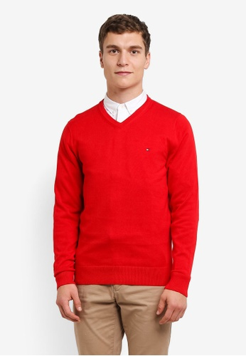 Tommy Hilfiger red PACIFIC V-NK TO729AA0FRK8SG_1