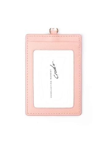 Crudo Leather Craft pink Senz'altro Leather Badge Holder - Saffiano Pink EE21CAC64180BFGS_1