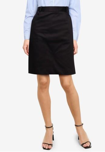 G2000 black Basic H-Shape Sateen Skirt DAF32AA577DA08GS_1
