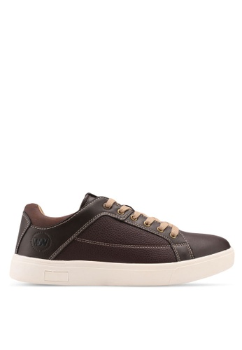 Weinbrenner brown Weinbrenner Faux Leather Sneakers 8D299SH922FDEAGS_1