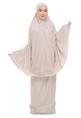 SITI KHADIJAH brown Siti Khadijah Telekung Signature Tiara in Khakis 39B67AADE6F807GS_1