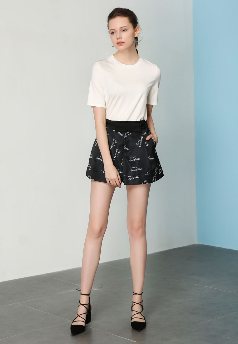 Shorts Hopeshow with Printed Bow Black w5qq8WngA