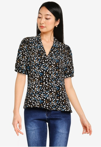 ONLY black Nova Lux Puff Sleeve Shirt C6002AAAAA9855GS_1